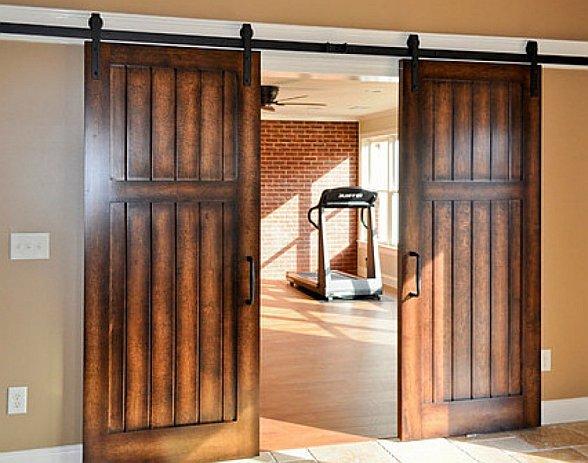 Loft двустворчатая дверь