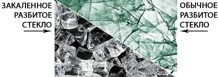 Закаленное и сырое стекло, различия